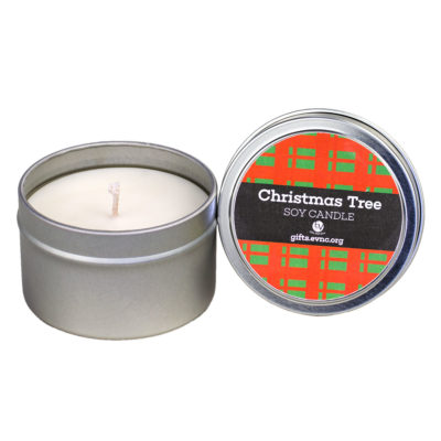Christmas Tree Candle Tin