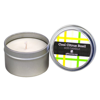 Citrus Basil Candle Tin